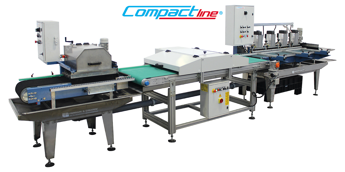 COMPACT LINE - AUTOMATIC CUTTING AND  EDGE-PROFILING LINE FOR CERAMIC