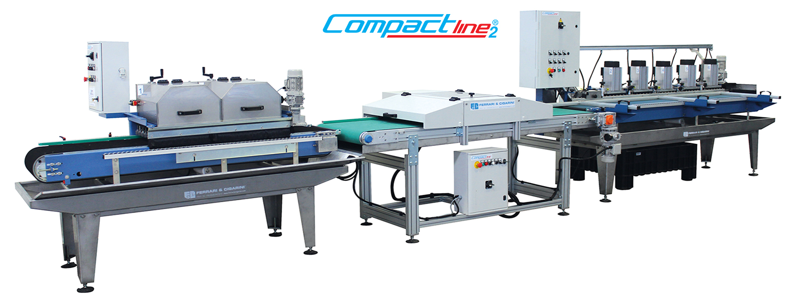 COMPACT LINE 2 - AUTOMATIC CUTTING AND  EDGE-PROFILING LINE FOR CERAMIC
