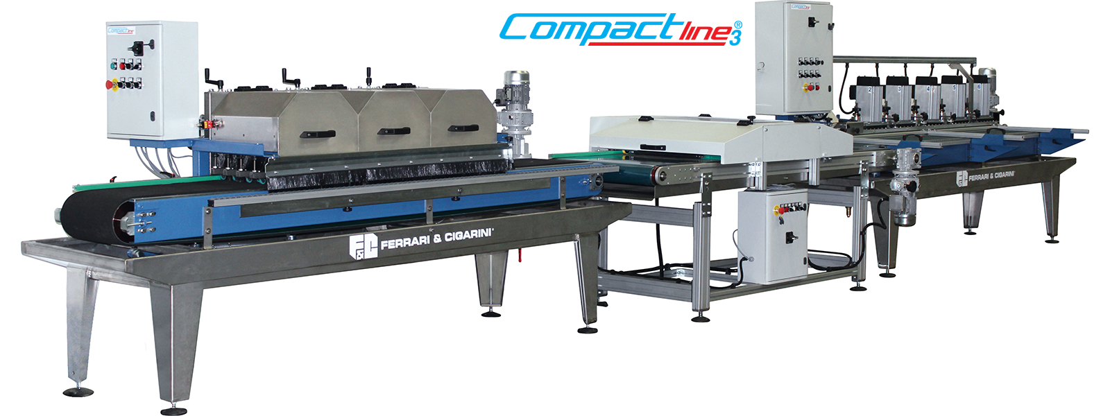 COMPACT LINE 3 - AUTOMATIC CUTTING AND  EDGE-PROFILING LINE FOR CERAMIC, MARBLE, STONE AND BRICK